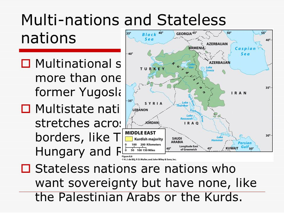 Multi-nations and Stateless nations