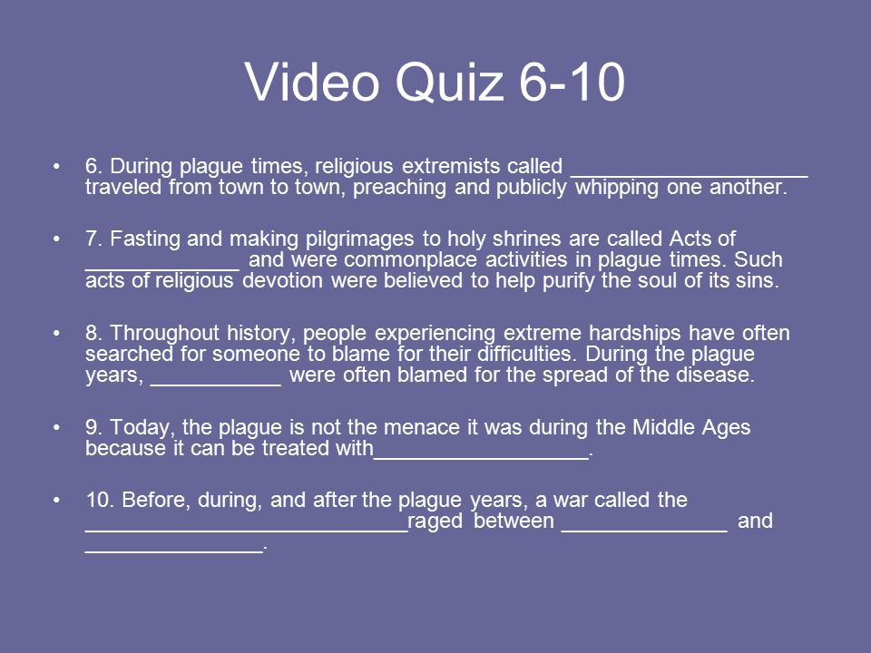 Video Quiz 6-10