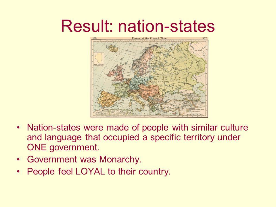 Result: nation-states