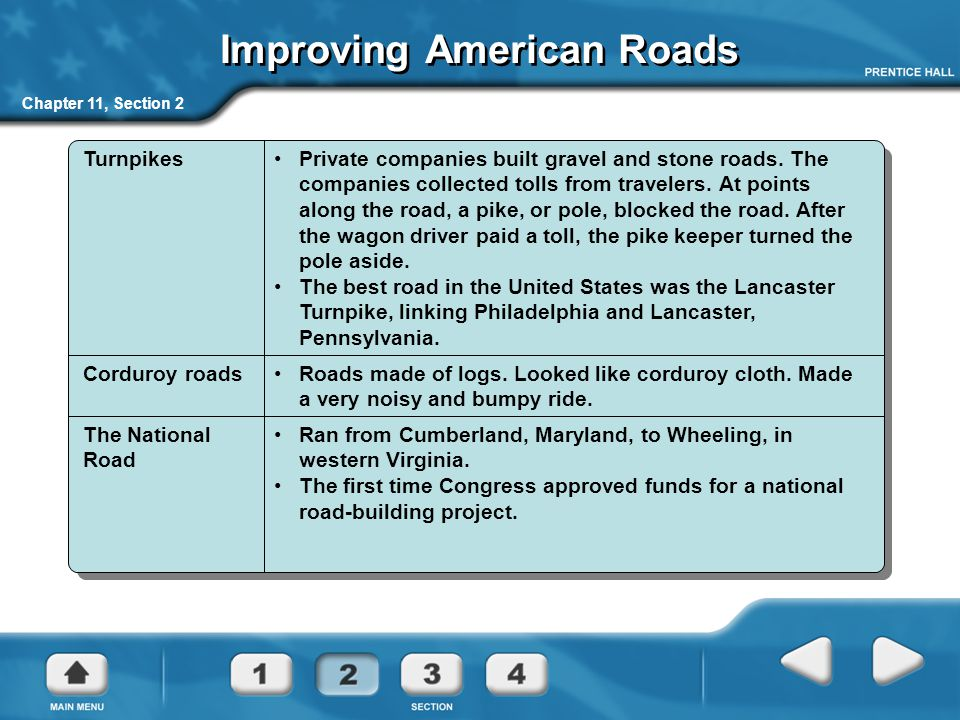 Improving American Roads
