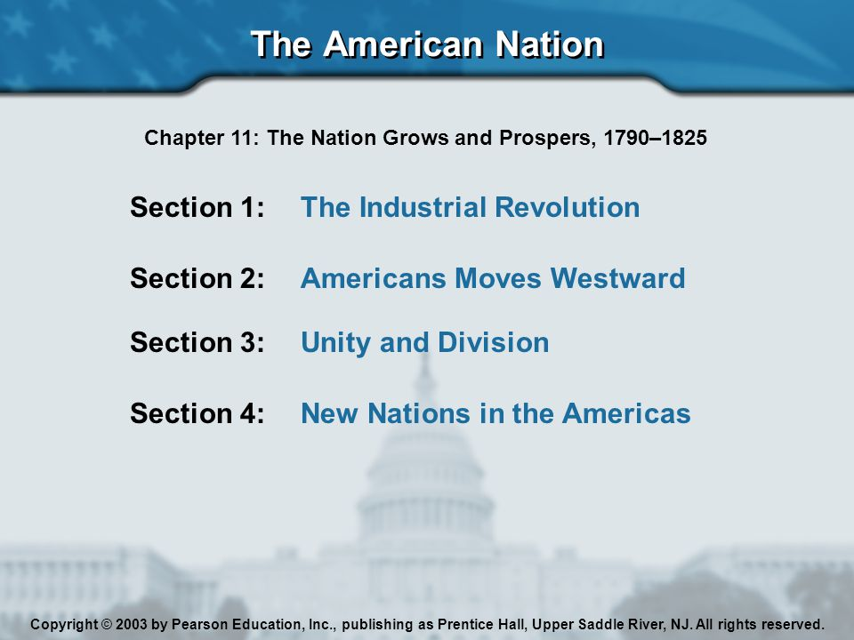 Chapter 11: The Nation Grows and Prospers, 1790–1825