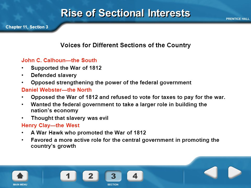 Rise of Sectional Interests