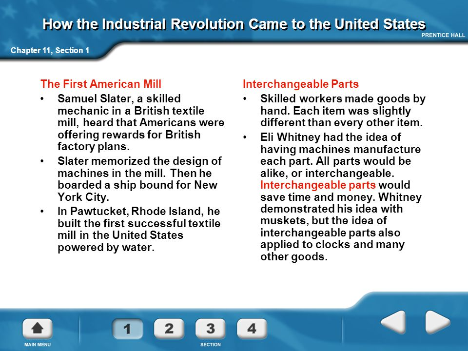 How the Industrial Revolution Came to the United States