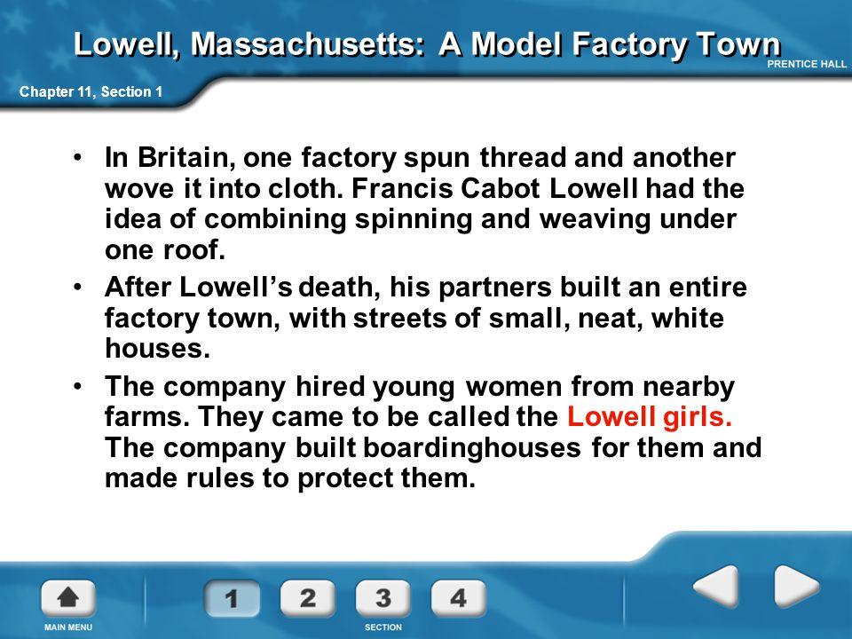 Lowell, Massachusetts: A Model Factory Town
