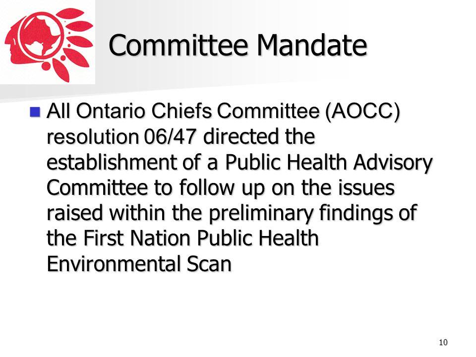 Committee Mandate