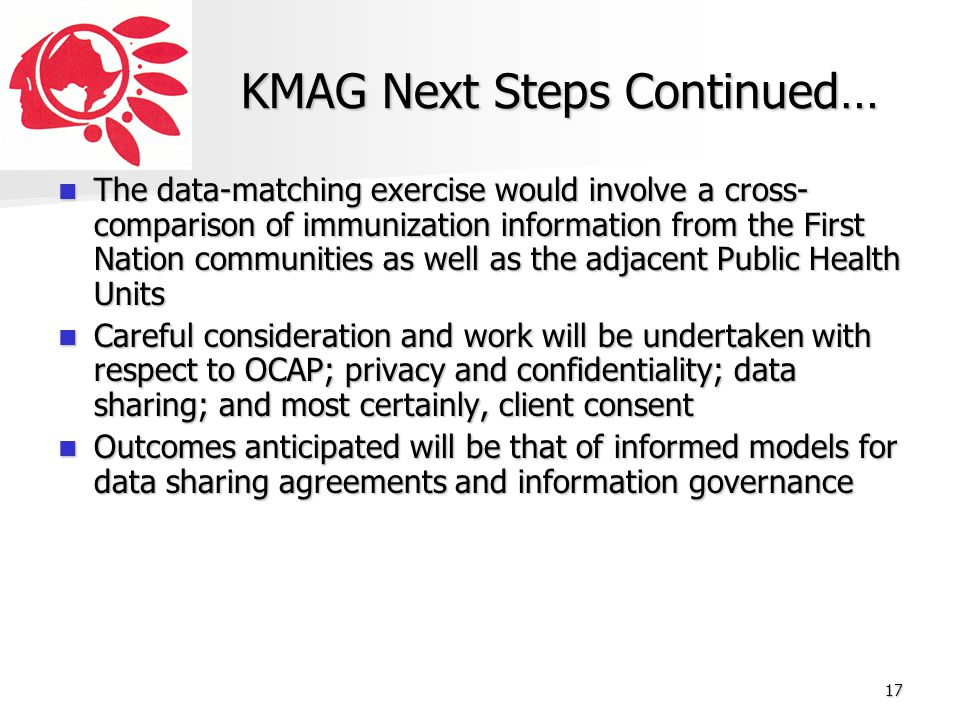 KMAG Next Steps Continued…