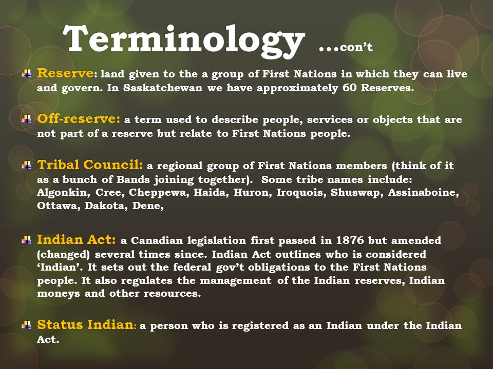 Terminology …con't