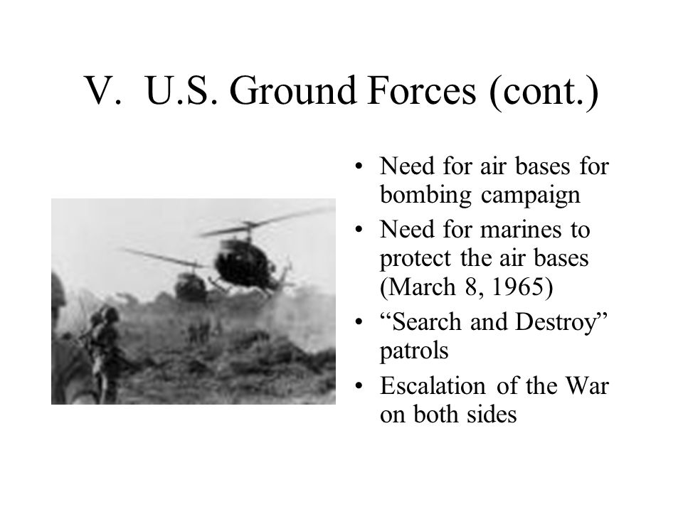 V. U.S. Ground Forces (cont.)
