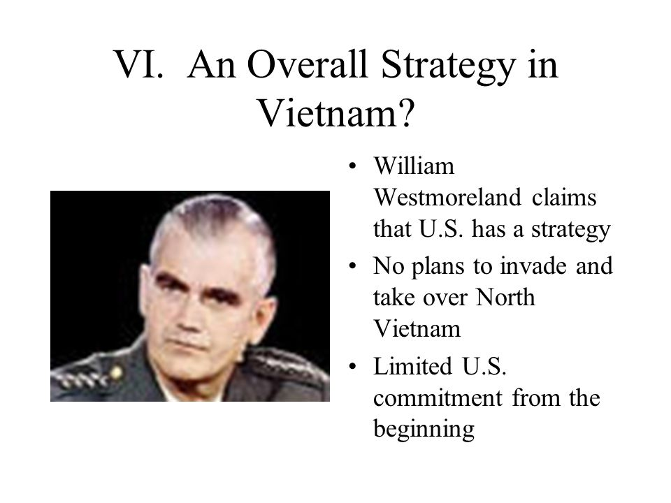 VI. An Overall Strategy in Vietnam
