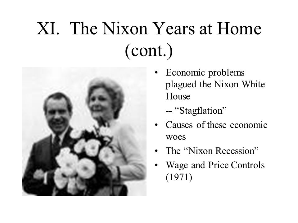 XI. The Nixon Years at Home (cont.)