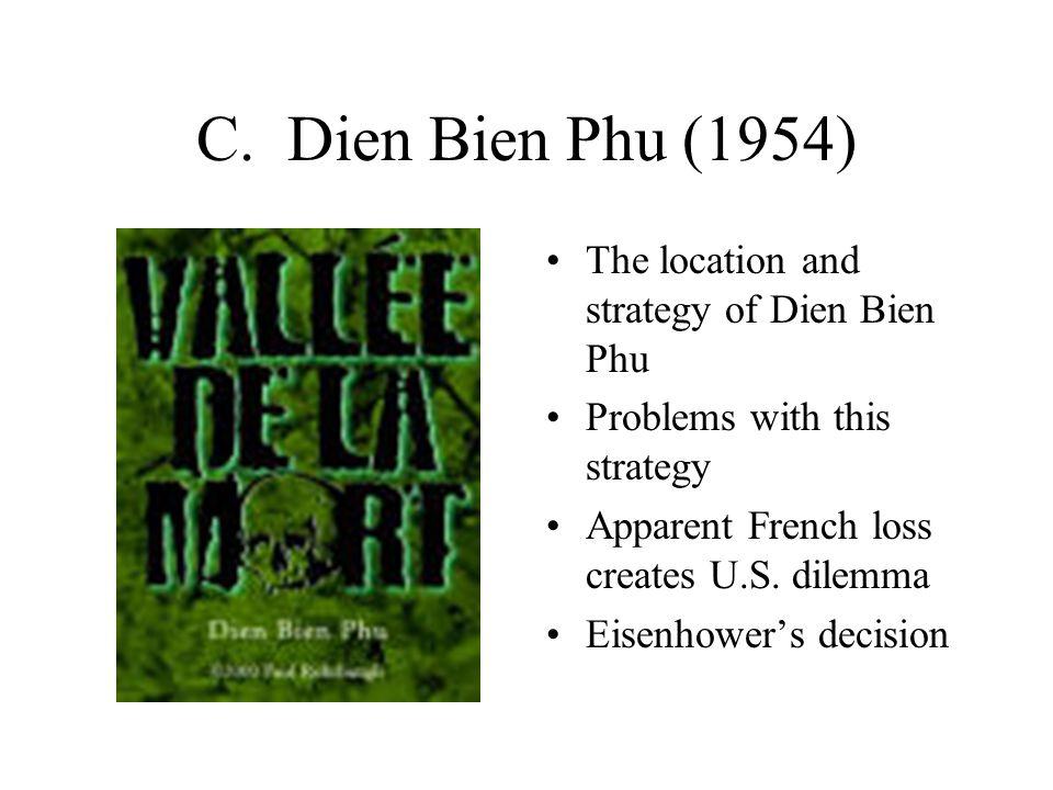 C. Dien Bien Phu (1954) The location and strategy of Dien Bien Phu