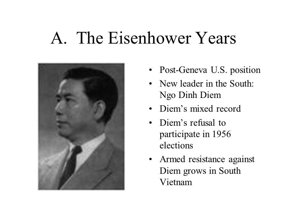 A. The Eisenhower Years Post-Geneva U.S. position