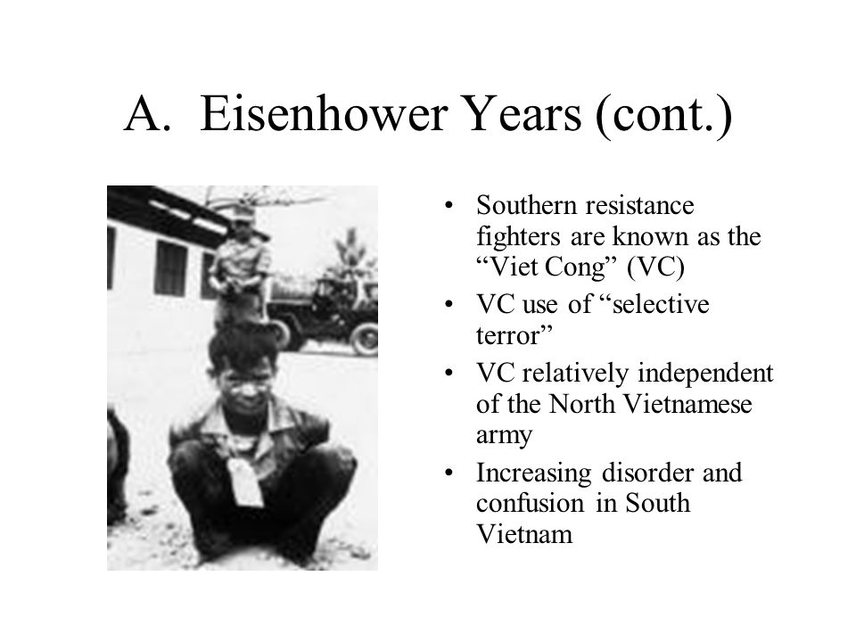 A. Eisenhower Years (cont.)
