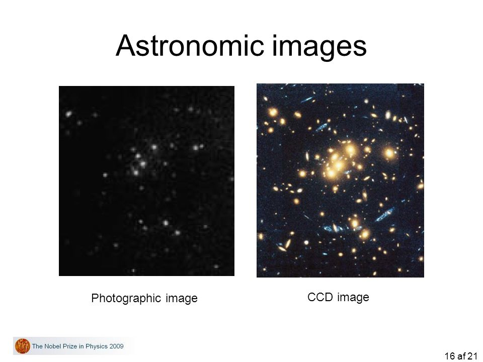 Astronomic images Photographic image CCD image