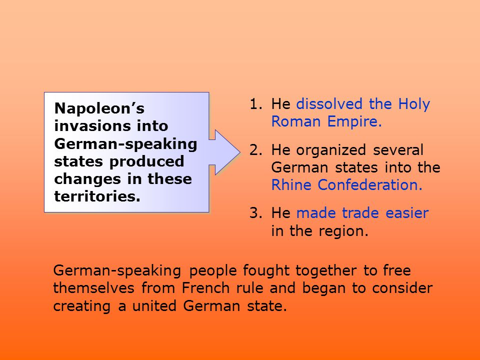 He dissolved the Holy Roman Empire.