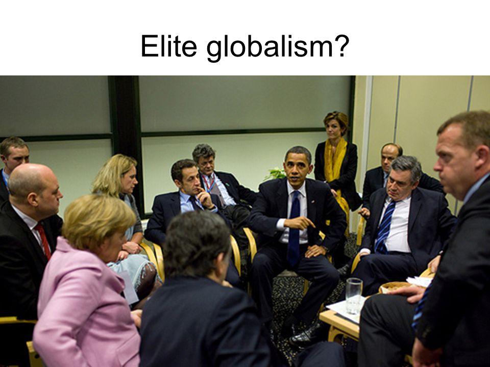 Elite globalism