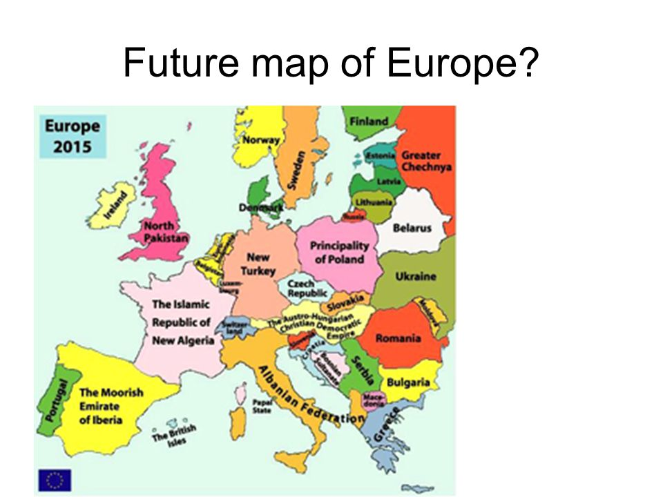Future map of Europe