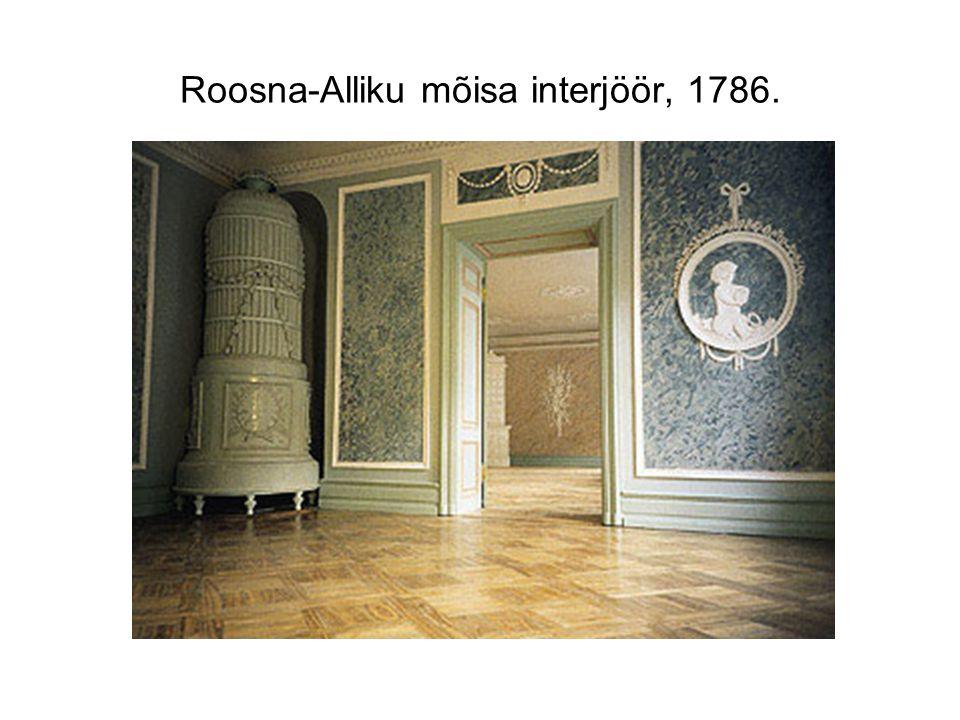 Roosna-Alliku mõisa interjöör, 1786.