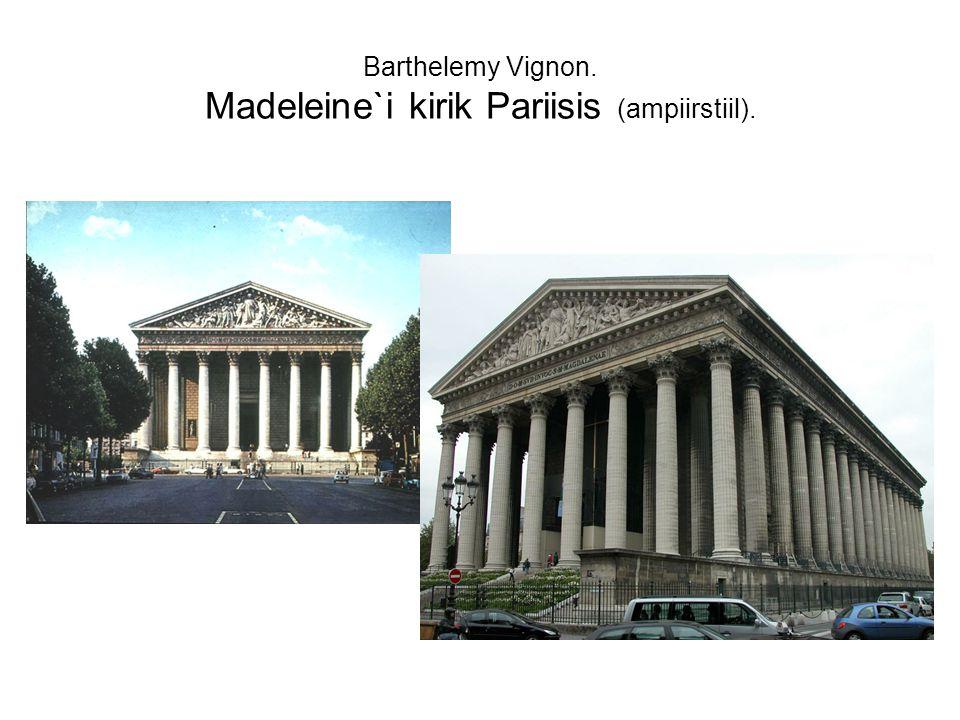 Barthelemy Vignon. Madeleine`i kirik Pariisis (ampiirstiil).