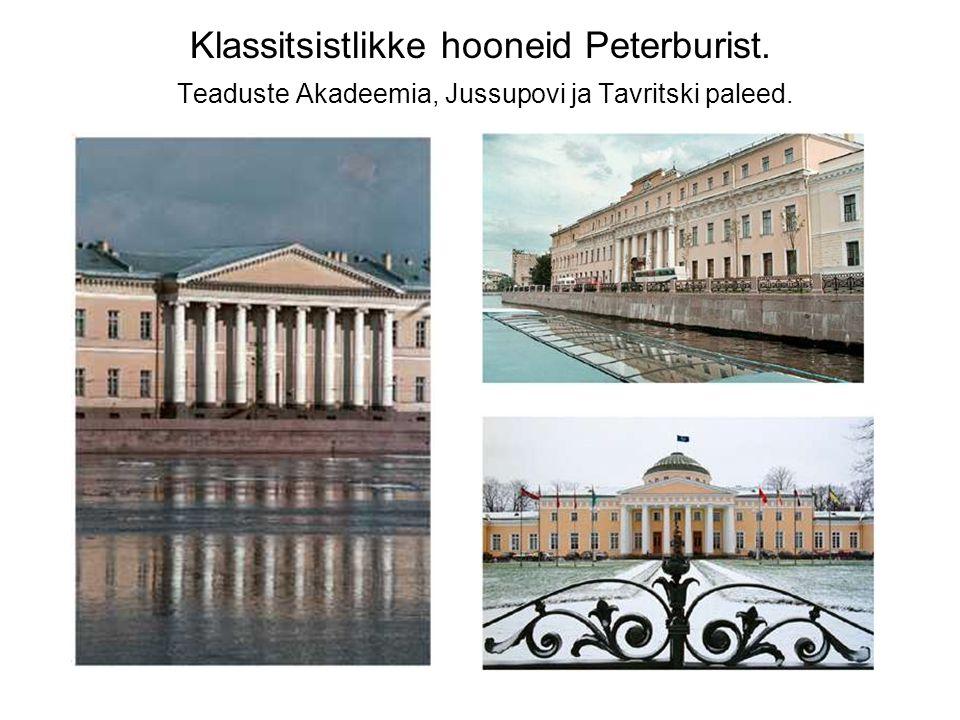 Klassitsistlikke hooneid Peterburist