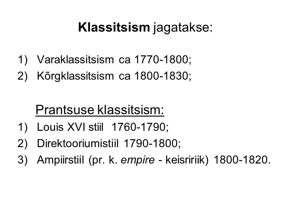 Klassitsism jagatakse: