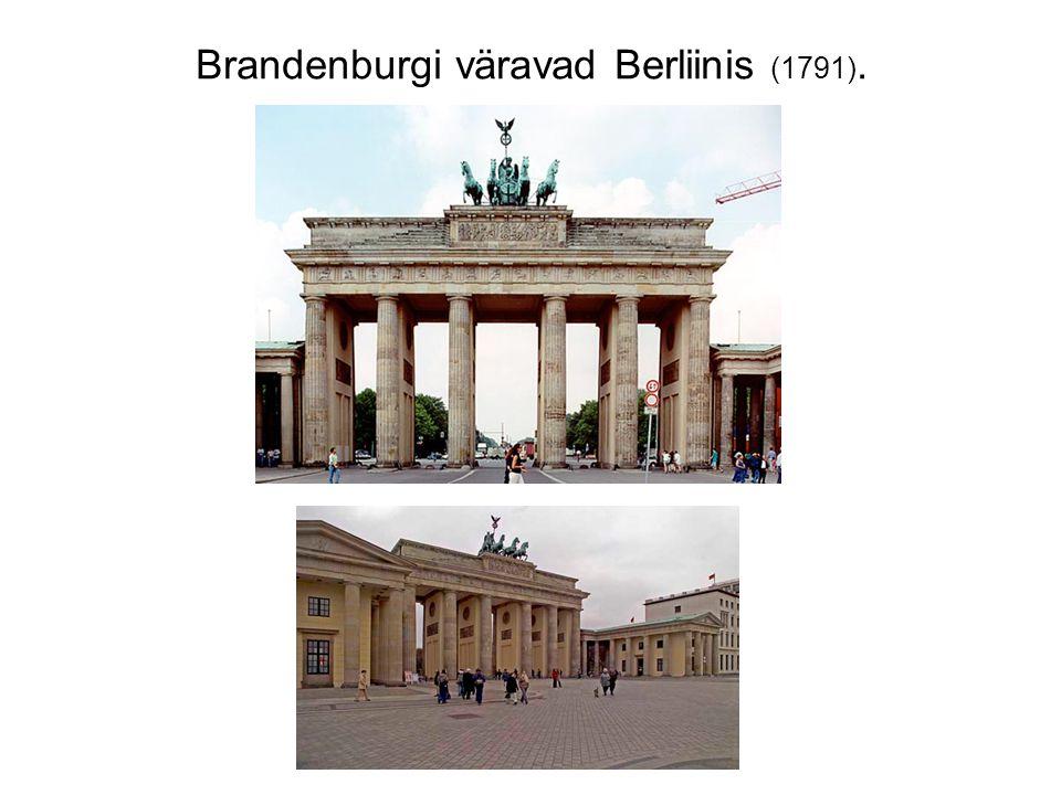 Brandenburgi väravad Berliinis (1791).