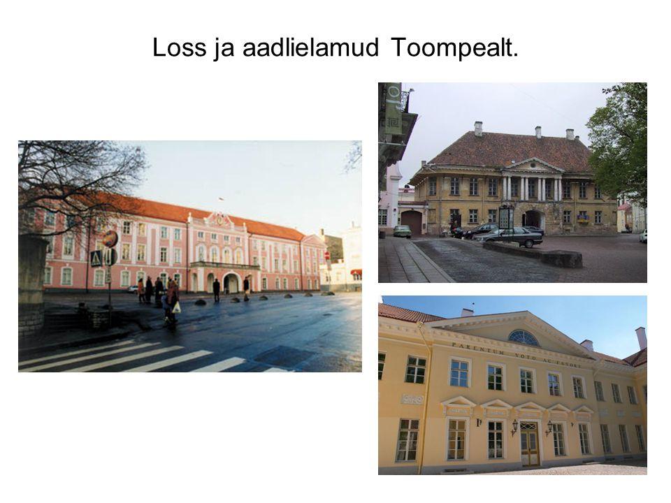 Loss ja aadlielamud Toompealt.