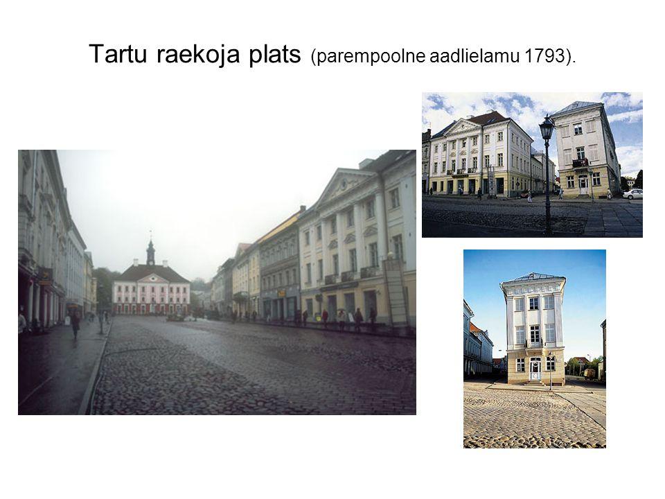 Tartu raekoja plats (parempoolne aadlielamu 1793).