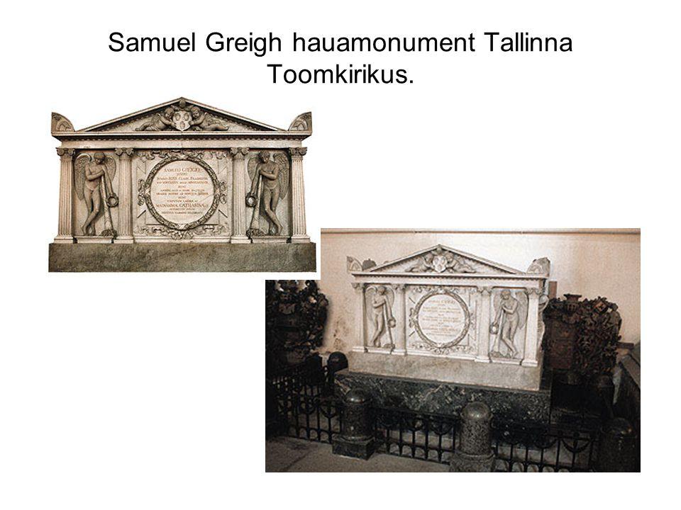 Samuel Greigh hauamonument Tallinna Toomkirikus.