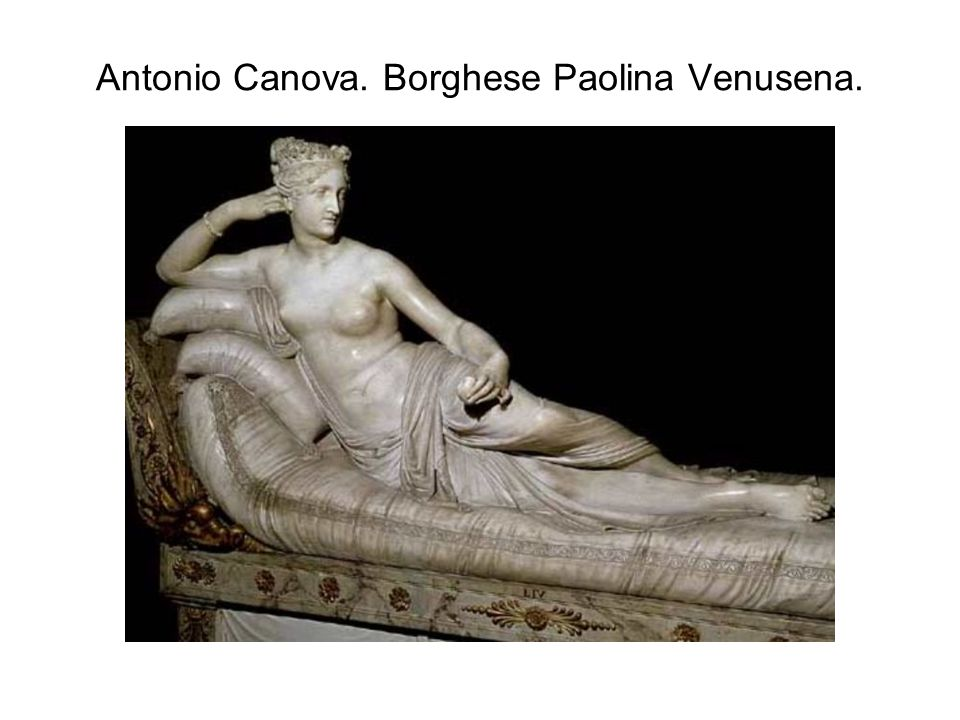 Antonio Canova. Borghese Paolina Venusena.