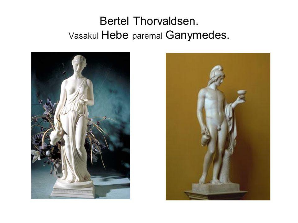 Bertel Thorvaldsen. Vasakul Hebe paremal Ganymedes.