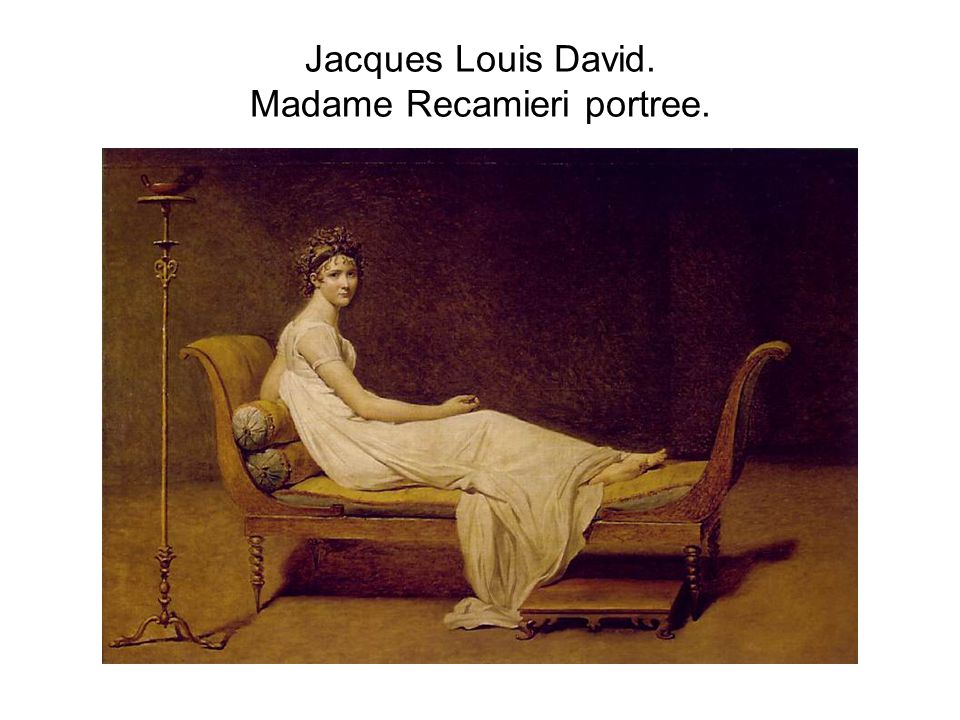 Jacques Louis David. Madame Recamieri portree.