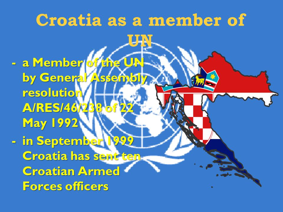 Croatia as a member of UN