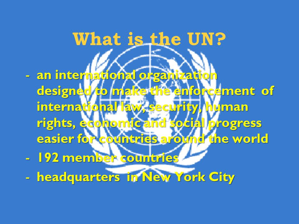 What is the UN