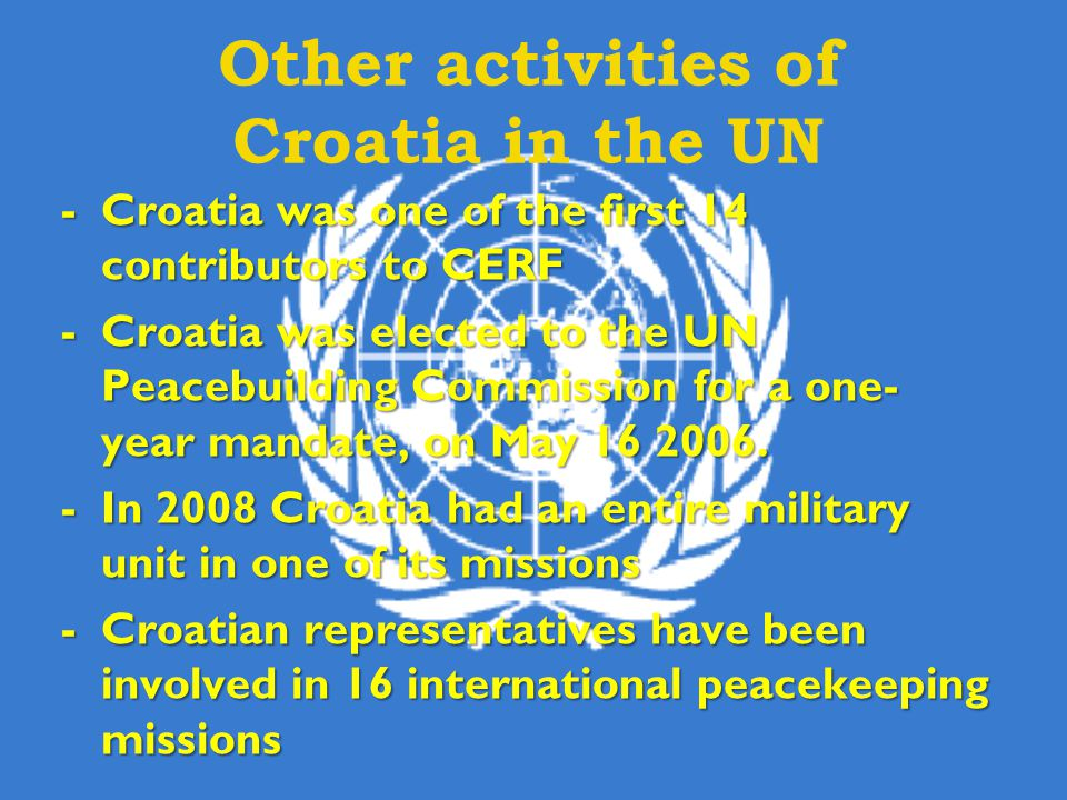 Other activities of Croatia in the UN