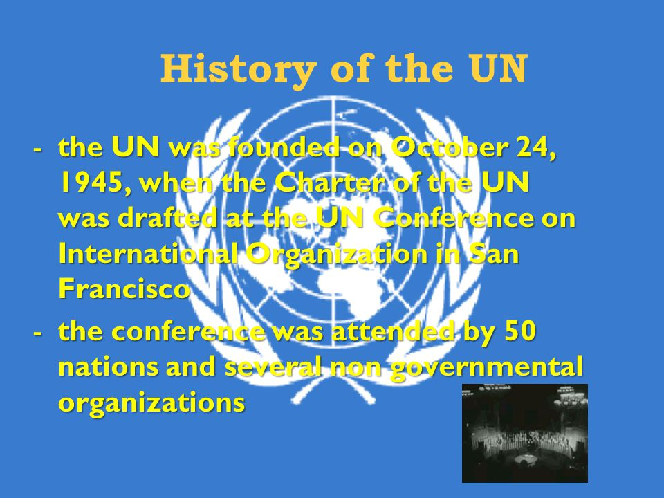 History of the UN