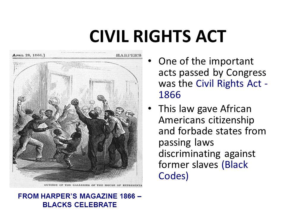 FROM HARPER'S MAGAZINE 1866 – BLACKS CELEBRATE