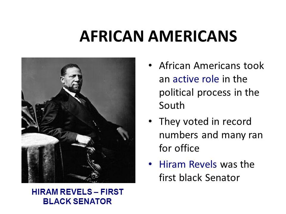 HIRAM REVELS – FIRST BLACK SENATOR