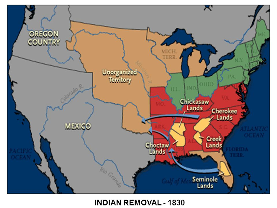 INDIAN REMOVAL - 1830
