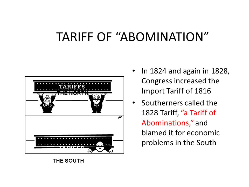 TARIFF OF ABOMINATION