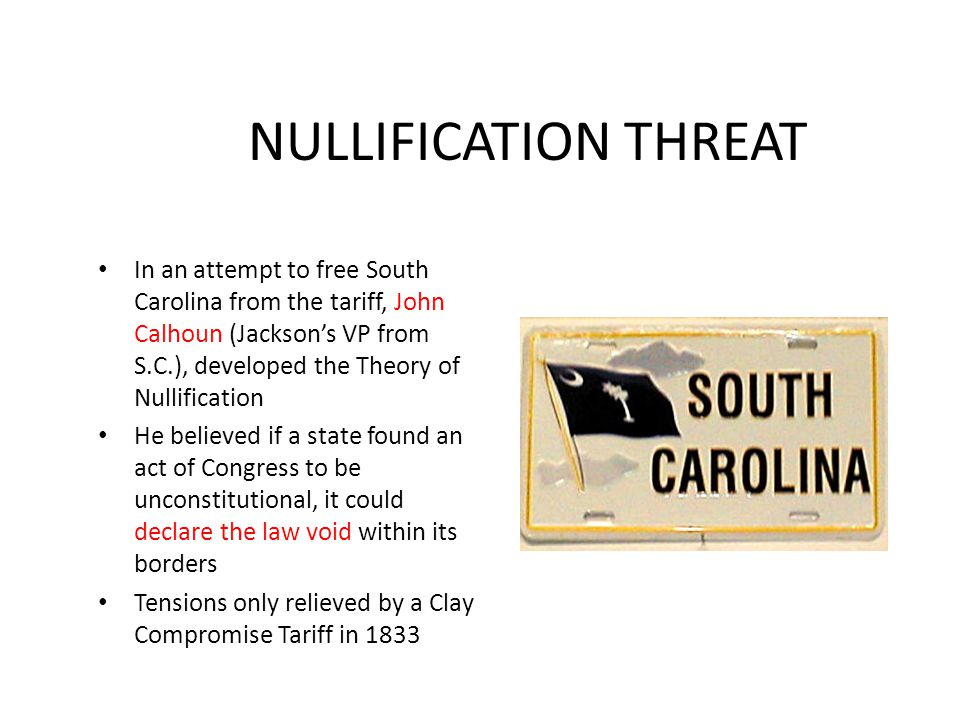 NULLIFICATION THREAT