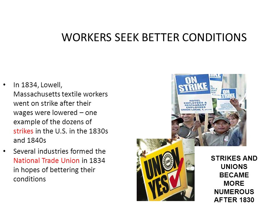 WORKERS SEEK BETTER CONDITIONS
