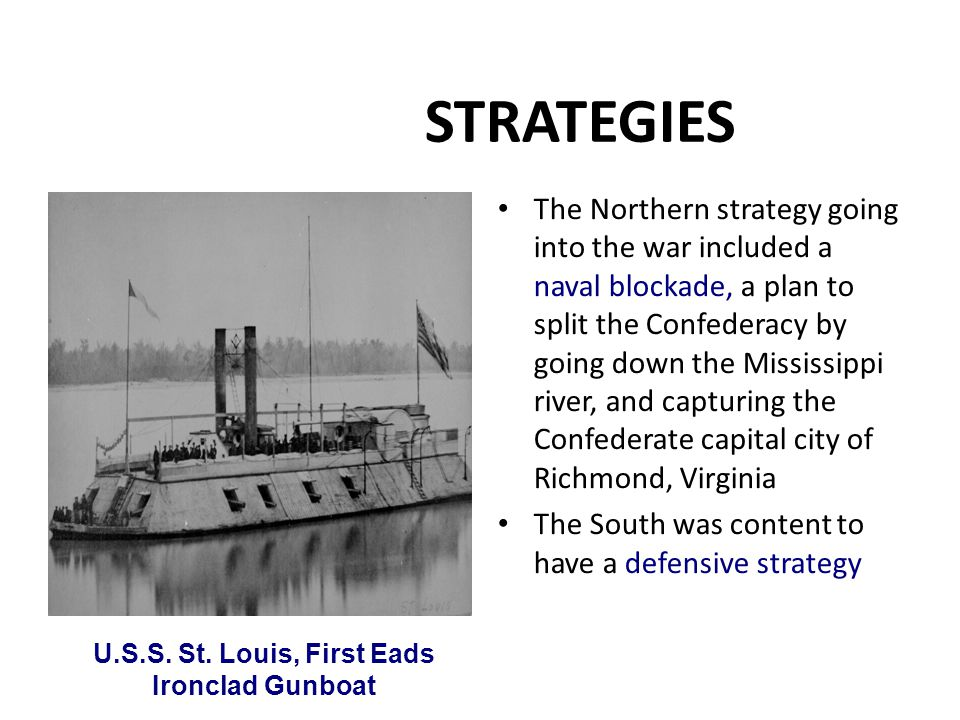 U.S.S. St. Louis, First Eads Ironclad Gunboat