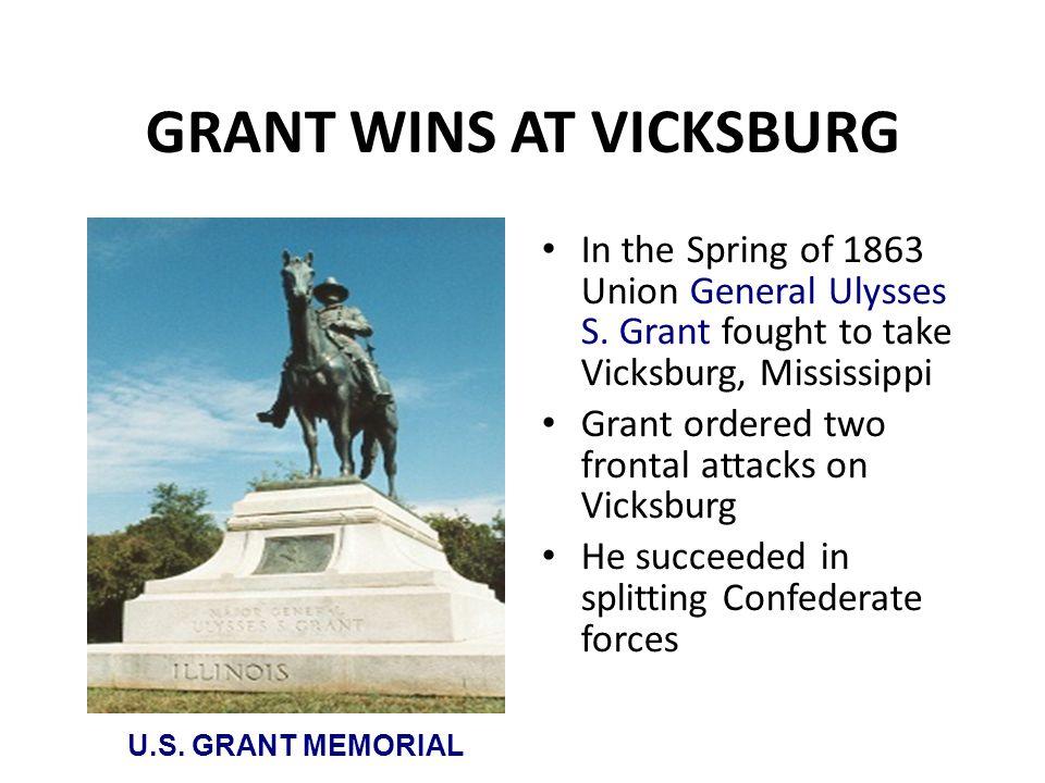 GRANT WINS AT VICKSBURG