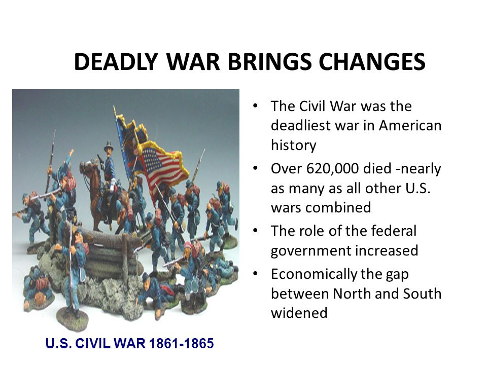 DEADLY WAR BRINGS CHANGES