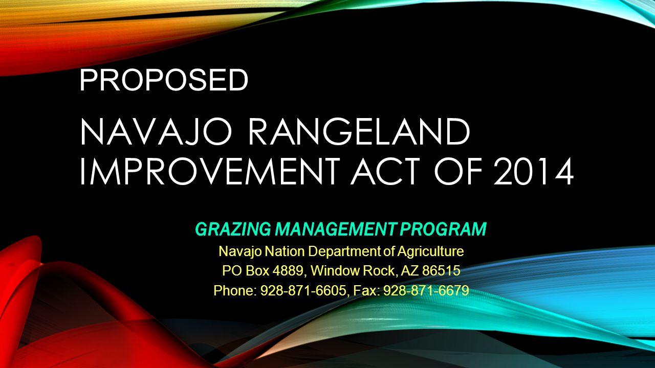 Navajo Rangeland Improvement Act of 2014