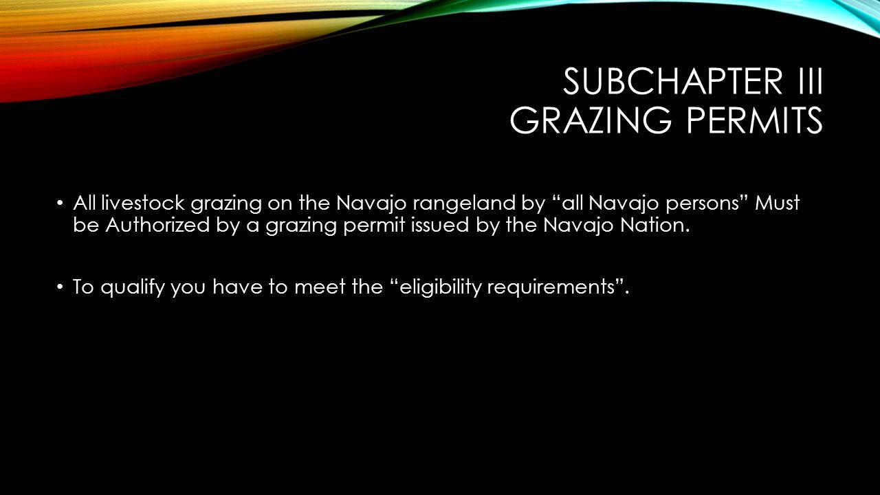 Subchapter iii grazing permits