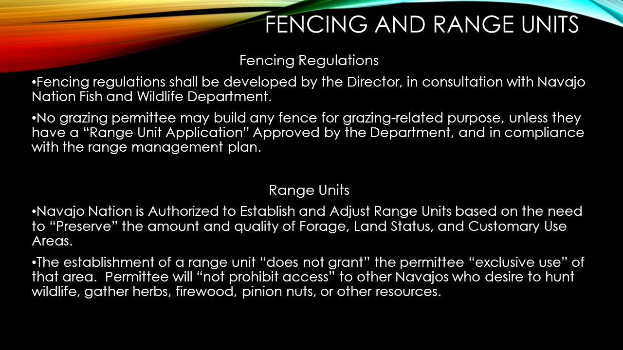 Fencing and Range units