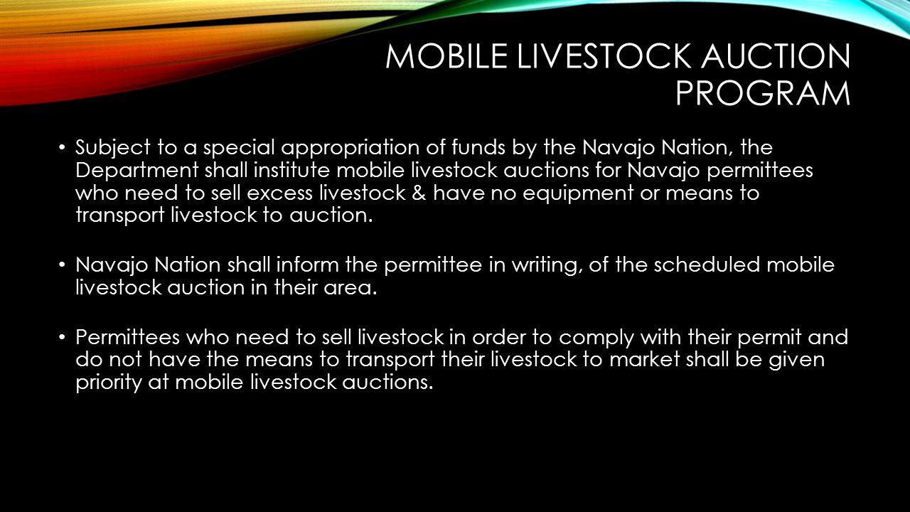 Mobile Livestock auction program