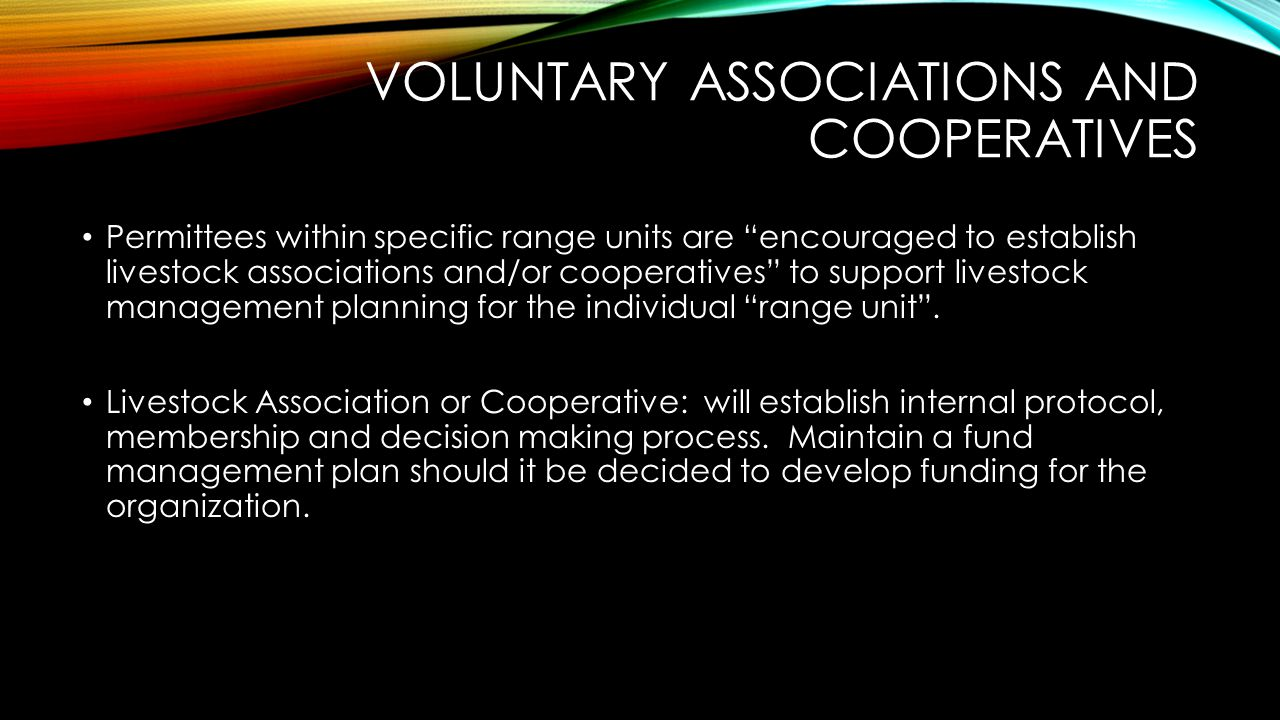 Voluntary Associations and Cooperatives